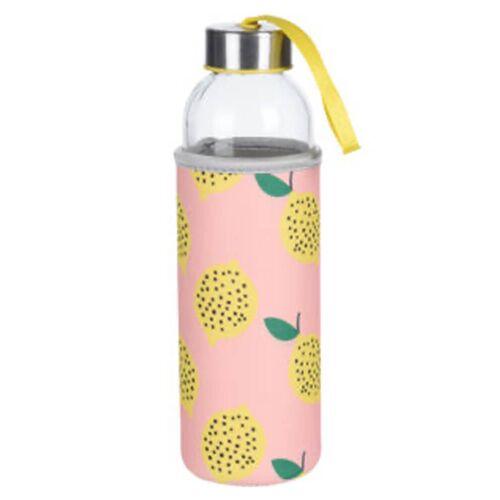 Excellent Houseware Trinkflasche Zitrone 400 ml
