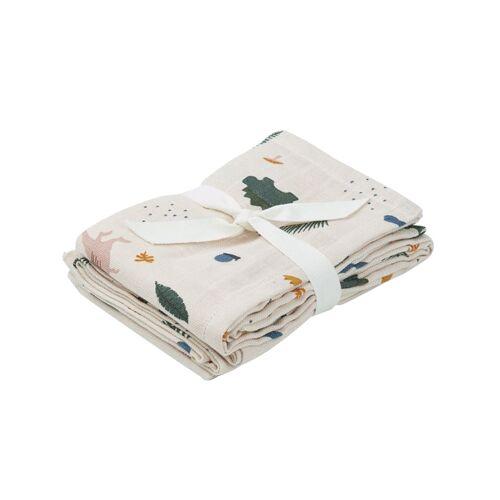 Liewood Hannah 2 pcs Muslin Cloth Dino Mix