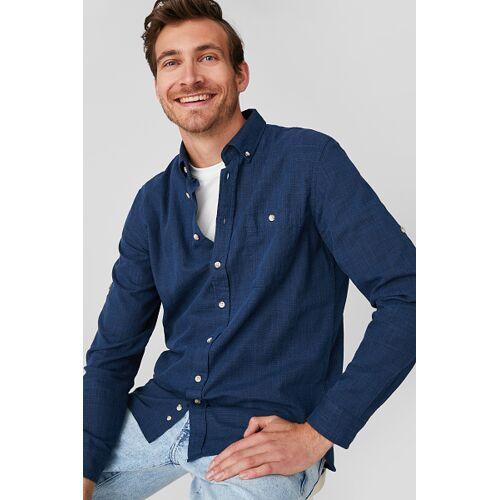 Canda C&A Hemd-Regular Fit-Button-down, Blau, Größe: M