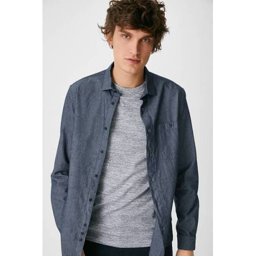 C&A Hemd-Slim Fit-Kent, Blau, Größe: M