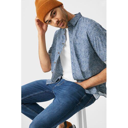 Canda C&A Hemd-Regular Fit-Kent, Blau, Größe: S