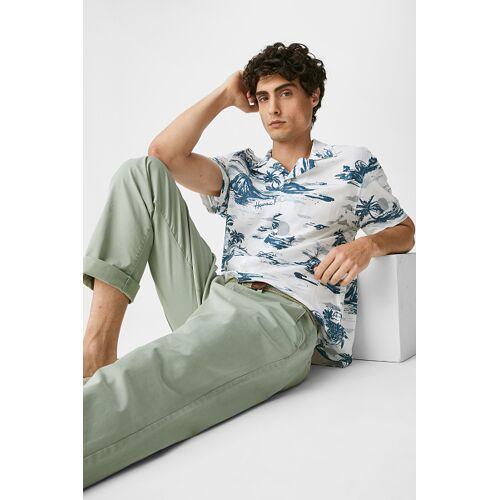 C&A Hemd-Slim Fit-Reverskragen, Weiß, Größe: 3XL