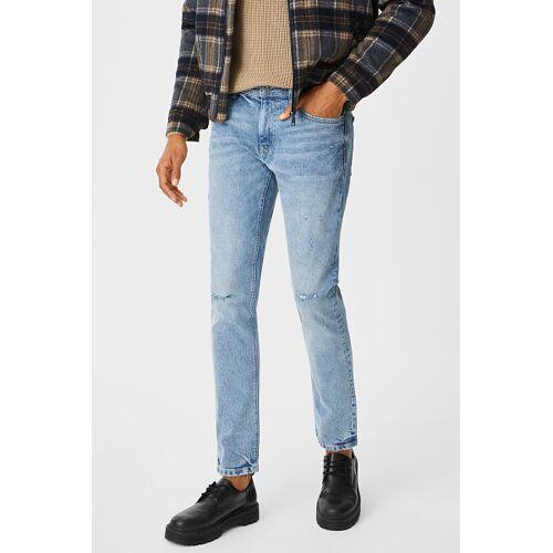 Clockhouse C&A CLOCKHOUSE-Slim Jeans, Blau, Größe: W30 L32/Male