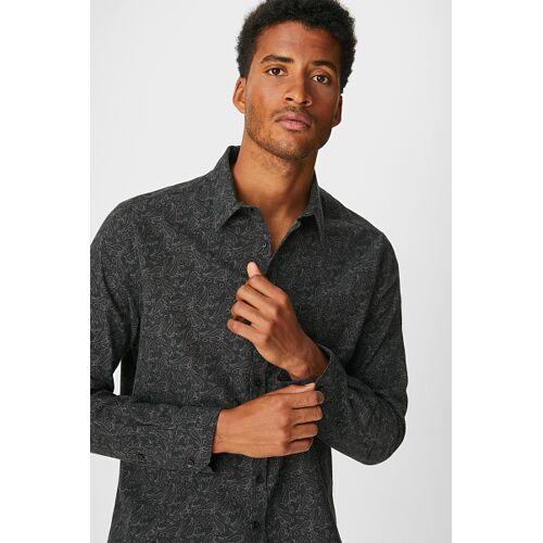 Westbury Premium C&A Hemd-Slim Fit-Kent, Grau, Größe: XL/Male
