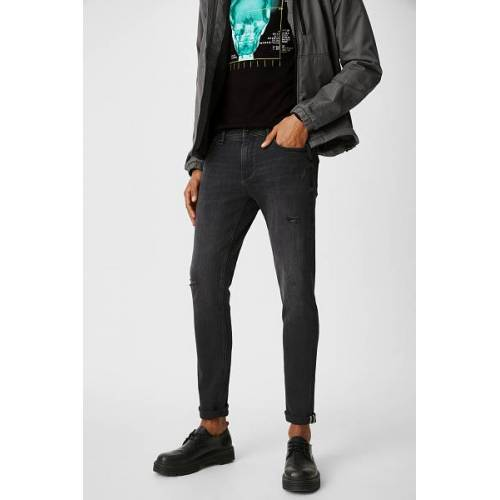 Clockhouse C&A CLOCKHOUSE-Skinny Jeans, Grau, Größe: W34 L32/Male