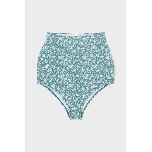 C&A Umstands-Bikini-Hose-High-Rise-geblümt, Grün, Größe: 44