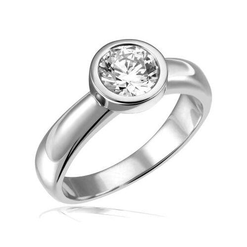 Goldmaid Stella Ring 750/- Weißgold 1 Brillant 1,00 ct. Lupenrein oder SI inkl. IGI Gu...