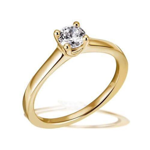 Goldmaid Jana Ring 750/- Gelbgold 1 Brillant 0,50 ct. Lupenrein oder SI inkl. IGI Guta...