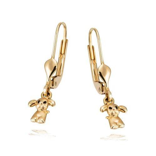 Goldmaid Mädchen Ohrringe 585 Gelbgold Hund matt/glänzend