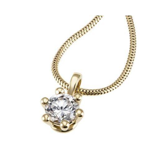 Goldmaid Laura Collier 750/- Gelbgold 1 Brillant 1,00 ct. Lupenrein oder SI inkl. IGI ...