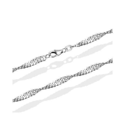 Goldmaid Singapurkette Halskette Weissgold 585 Länge 45 cm