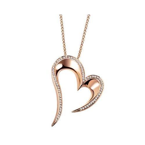 Goldmaid Collier Halskette Herz Rotgold 750 mit 69 Brillanten VS/G