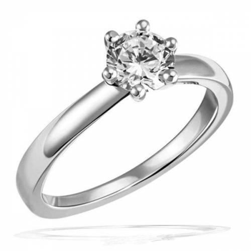 Goldmaid Laura Ring 750/- Weißgold 1 Brillant 1,00 ct. Lupenrein oder SI inkl. IGI Gut...
