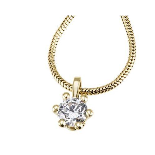 Goldmaid Laura Collier 750/- Gelbgold 1 Brillant 0,50 ct. Lupenrein oder SI inkl. IGI ...