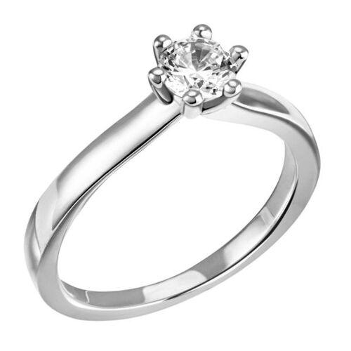 Goldmaid Laura Ring 750/- Weißgold 1 Brillant 0,50 ct. Lupenrein oder SI inkl. IGI Gut...
