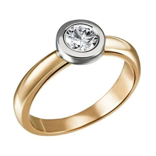 Goldmaid Stella Ring 750/- Gold Bicolor 1 Brillant 0,50 ct. Lupenrein oder SI inkl. IG...