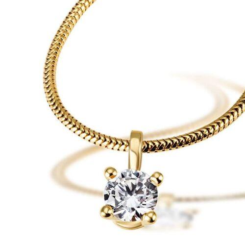 Goldmaid Jana Collier 750/- Gelbgold 1 Brillant 0,50 ct. Lupenrein oder SI inkl. IGI G...