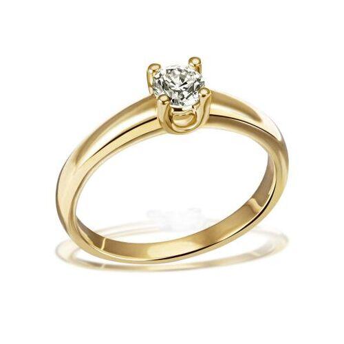 Goldmaid Damen Ring Solitär 4er Krone 585 Gelbgold Brillant 0,50 ct. Halbkaräter P1/KL...