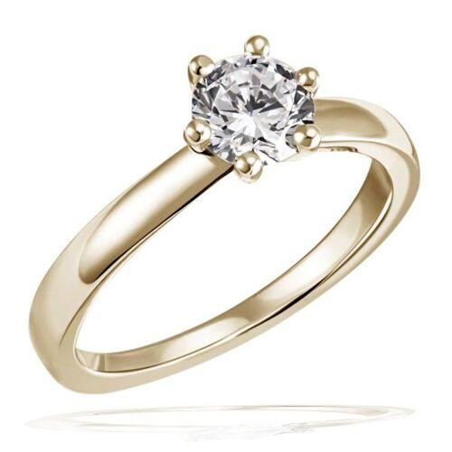 Goldmaid Laura Ring 750/- Gelbgold 1 Brillant 1,00 ct. Lupenrein oder SI inkl. IGI Gut...