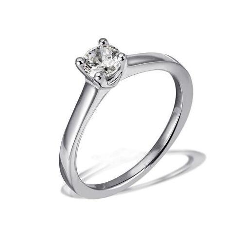 Goldmaid Damen Ring Solitär 585 Weißgold Brillant 0,30 ct. Lupenrein Größe wählbar 50-60