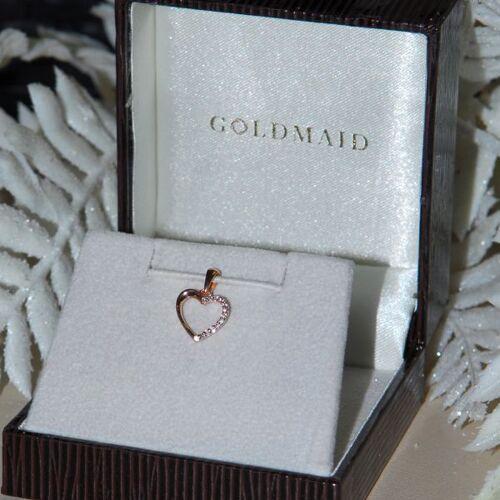 Goldmaid Anhänger Herz 585 Rotgold 13 Diamanten zus. 0.06 ct. SI1/H