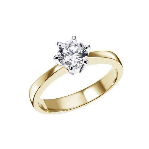Goldmaid Damen Ring Solitär 6er Krone 585 Weißgold Brillant 0,50 ct. Halbkaräter SI1/H...