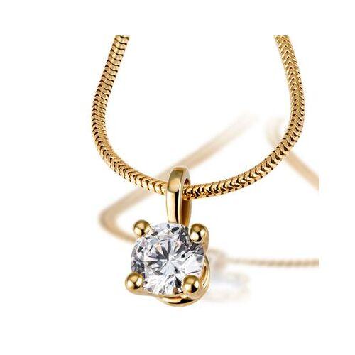 Goldmaid Jana Collier 750/- Gelbgold 1 Brillant 1,00 ct. Lupenrein oder SI inkl. IGI G...