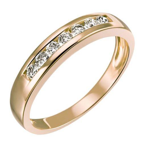 Goldmaid Damenring Memoire 585 Gelbgold 7 Brillanten zus. 0,25 ct. Lupenrein KL