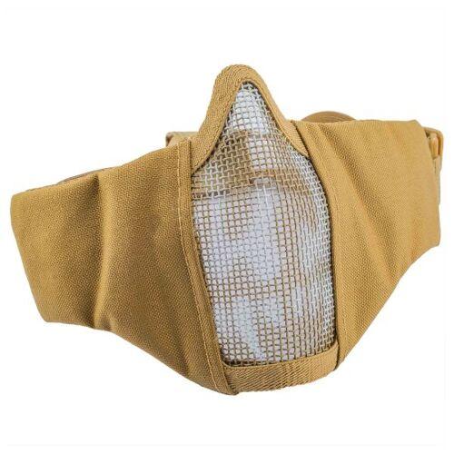 101 Inc. Gitterschutzmaske Face Mask Nylonmesh m. Skull coyote