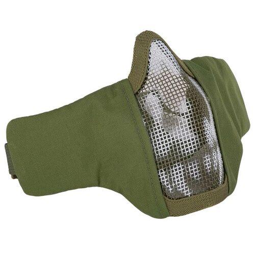 101 Inc. Gitterschutzmaske Face Mask Nylonmesh m. Skull oliv