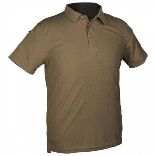 Mil-tec Poloshirt Tactical Quickdry 1/2 Arm oliv, Größe S