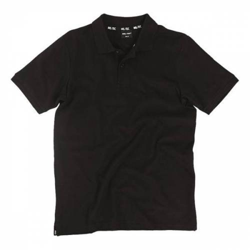 Mil-Tec Poloshirt Pikee 250 g schwarz