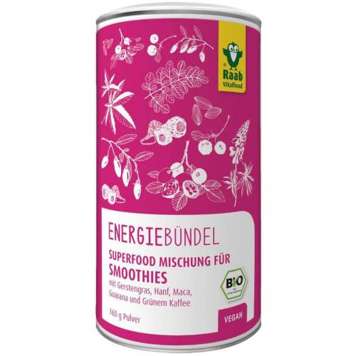 Raab Vitalfood Bio Superfood Mischung Energiebündel Pulver (160g)