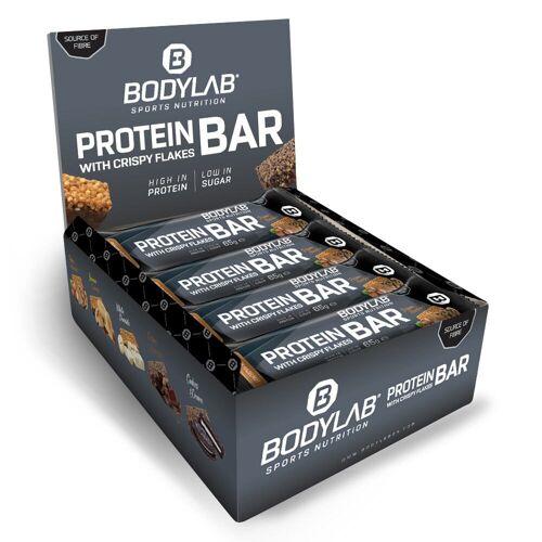 Bodylab24 Crispy Protein Bar - 12x65g - Haselnuss/Pekannuss