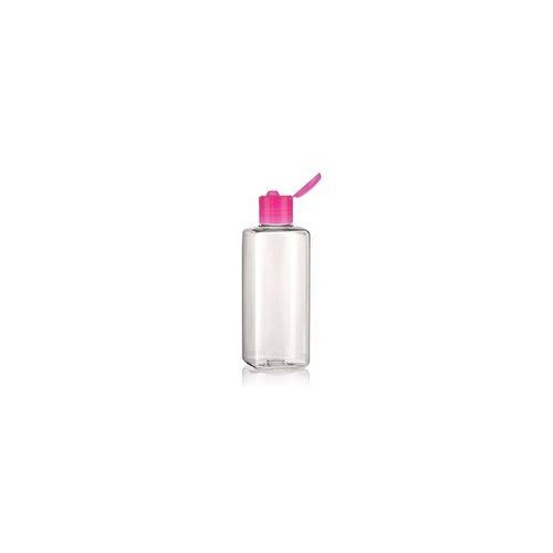 """200ml PET-Flasche """"Karl"""" pink mit Klappscharnier"""