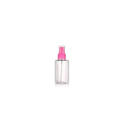 """100ml PET-Flasche """"Karl"""" pink mit Sprühzerstäuber"""