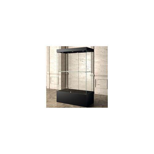 JTI-Vitrine Glasvitrine Museum schwarz 120 x 60 cm
