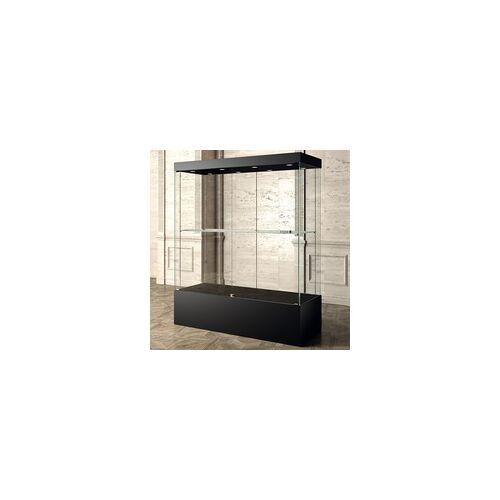 JTI-Vitrine Ausstellung Vitrine schwarz 160 x 60 cm