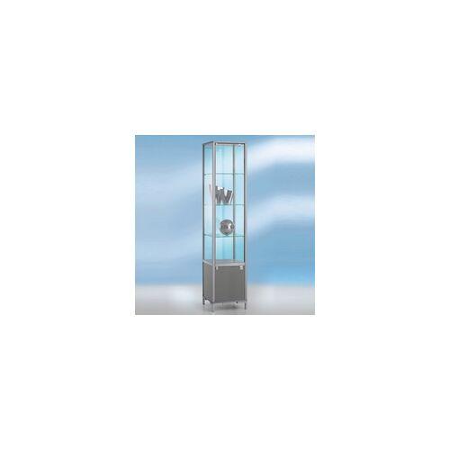 BST Vitrine Glas klein 40 x 40 cm mit Unterschrank
