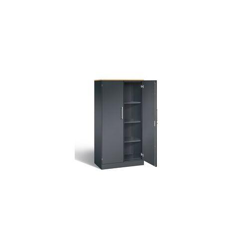 C+P Möbelsysteme Stahlschrank mit Flügeltüren 4OH / 5OH abschließbar