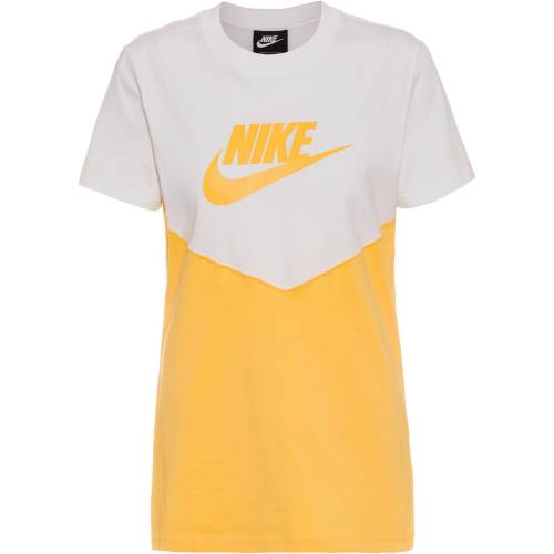 Nike NSW T-Shirt Damen white-topaz gold-topaz gold XL