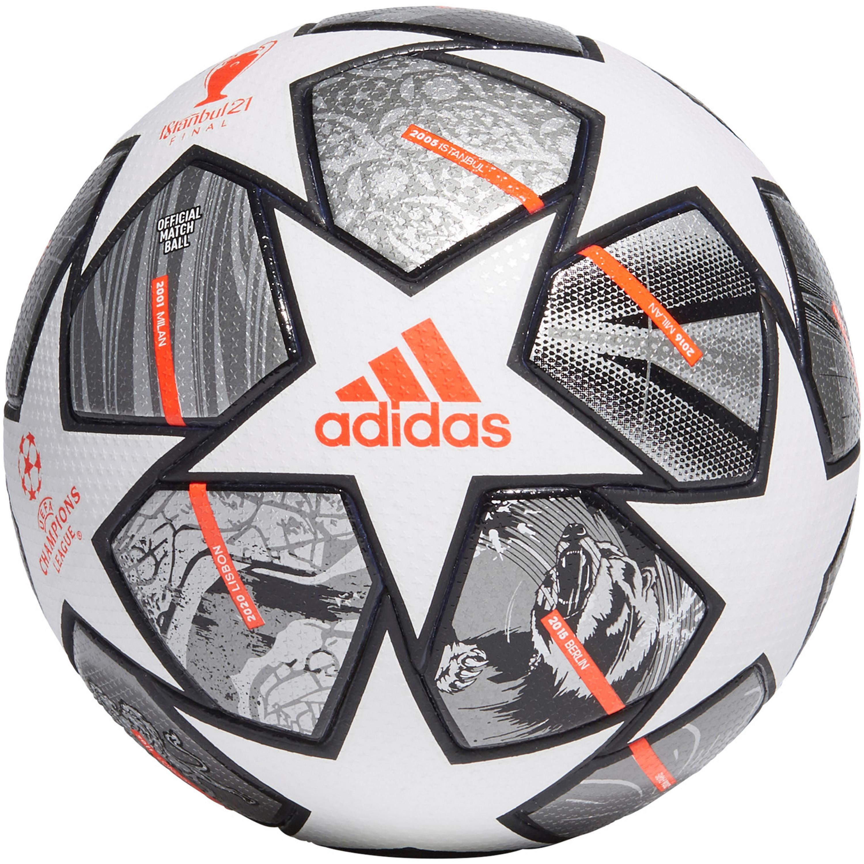 Adidas Finale Pro Fußball white-iron met.-silver met. 5