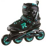 ROCES ICON W Inline-Skates Damen black-aqua 38