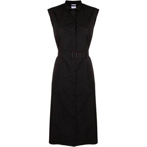 Aspesi Popeline-Kleid mit Gürtel - Schwarz Male regular