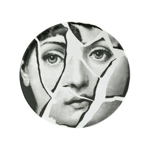 Fornasetti Teller mit Print - Weiß Male regular