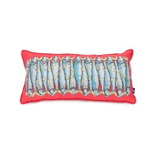 Fornasetti Kissen mit Sardinen-Print - Rot Female regular