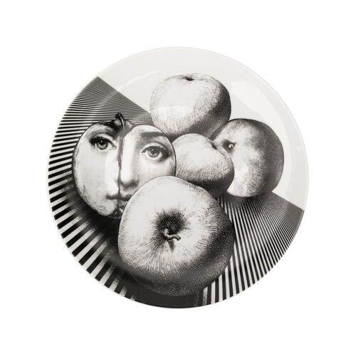 Fornasetti Teller mit Obst-Print - Weiß Male regular