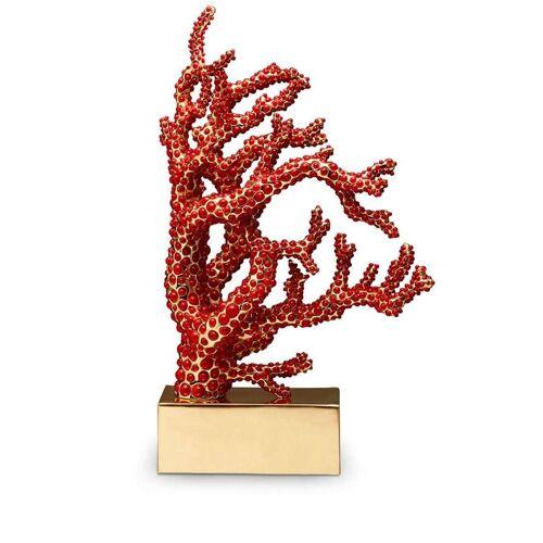 L'Objet Korallenskulptur mit Kristallen - Rot Female regular