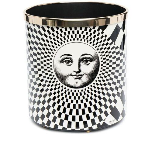 Fornasetti Papierkorb mit geometrischem Print - Weiß Female regular