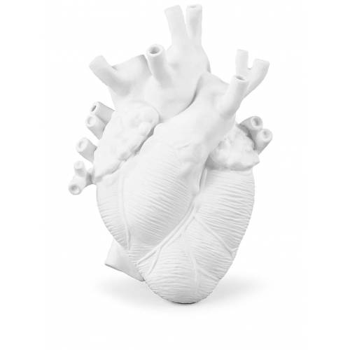 Seletti Love in Bloom Vase in Herzform - Weiß Male regular